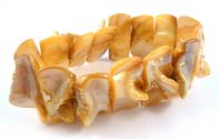 Golden Honey Naturalistic Shell Stretch Bracelet.